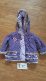 Girls coat / jacket age 9 to 12 months