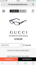Gucci Designer Red Glasses Frame