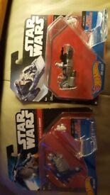 Star wars hot wheels due cast