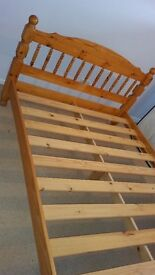 Two high quality wooden bedframes for clearance sale at Knighton, Leicester