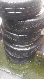 Alloy wheels and tyres 215/45 r 17