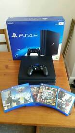 Ps4 Pro 1tb with 5 games 1 controller boxed