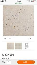 Travertine new tiles