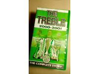 CELTIC FC 'The Treble 2000-2001' VHS VIDEO as new