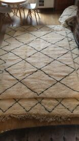 Beni ourain beautiful rug for sale. available for collection or delivery now.