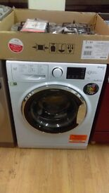 HOTPOINT 9KG WASHING MACHINE new ex display which may have minor marks or blemishes.
