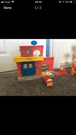 Fisher price little people fire station set