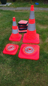 Proffesional Hi-Viz Fold Down Emergency / Flashing Cones.
