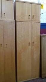 Wardrobe, chest of drawers and bedside table set