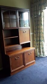 FOR SALE G PLAN GLASS FRONTED CABINET