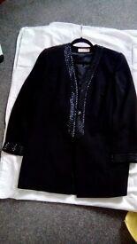 Jaque vert beaded trim evening jacket size 12 new black stunning