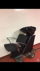 Hairdressing barber salon backwash sink