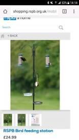 RSPB bird feeding station