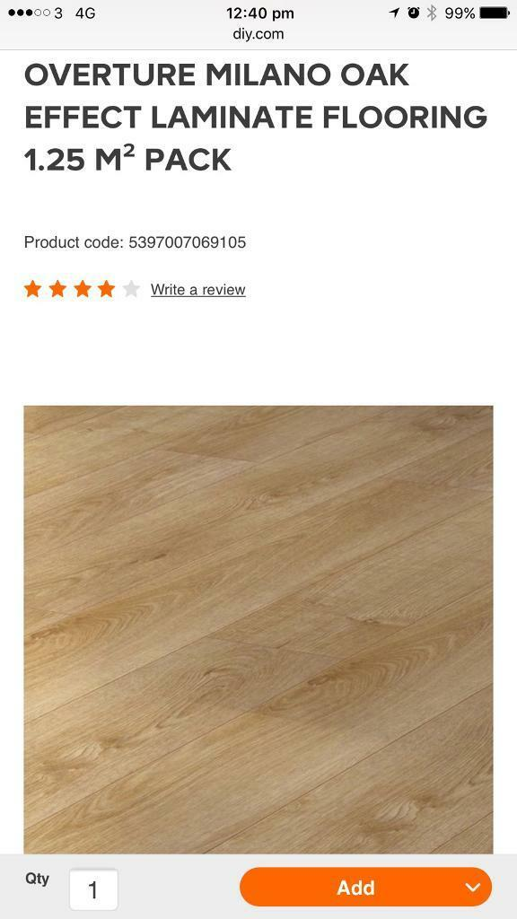 20 Packs 1 Free Pack Of Overture Milano Oak Effect Laminate Flooring