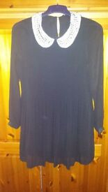 Black dress with beaded colour size 12