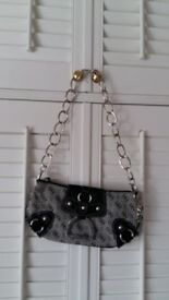 Grey and Black Guess handbag