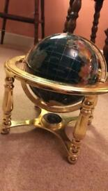 Ornamental globe on metal frame