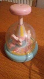 USED SPINNING HORSES BABY MERRY GO ROUND
