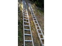 Ladder.double 19 rung 3 storey ladder.Heavy builders quality ladder.perfect condition