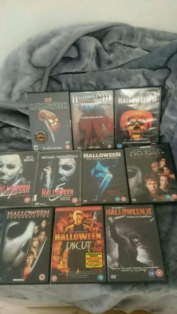Halloween Dvd Box Set.10 Halloween Michael Myers Dvds Complete Collection In Swansea Gumtree