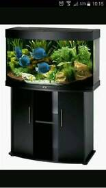 Juwel 180litre bow fronted fish tank and stand.