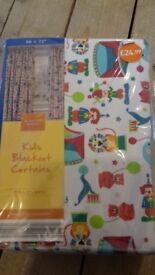 Kid's room curtains, unisex, new in package