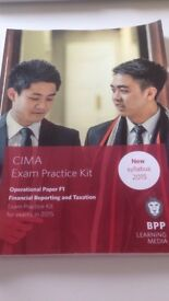 CIMA Exam Practice Kit Operational Paper F1 Financial Reporting and Taxation + CIMA passcards