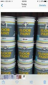 Industrial strength floor paint