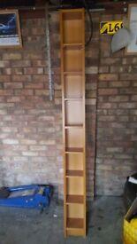 Cd storage rack - brown wood