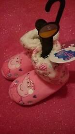 Brand New Peppa Pig Slippers