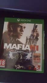Xbox one game mafia 3 will sell for 25. Never played before