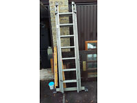 Roof Ladder - Aluminum roof ladder , been stored in garage for a few years