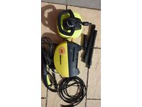 Karcher Pressure Washer including Patio Washer and hoses.