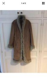 Next long fur coat size 14