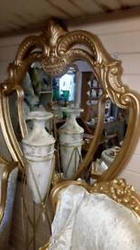 Large gold look mirror