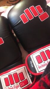 Boxing gloves pick up tomorrow