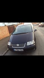 VW Sharan 1.9TDi MPV PCO Registered Auto 2006 87,000 Miles