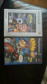 PS2 CRASH BANDICOOT BUNDLE = THE WRATH OF CORTEX + TAG TEAM RACING £20 for the pair