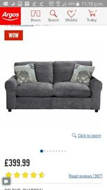 Argos Charcoal grey pull-out sofa bed (Good condition)
