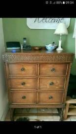 tallboy oak drawers