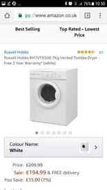 Russell hobbs dryer £194 brand will sell for £110 used 2 times