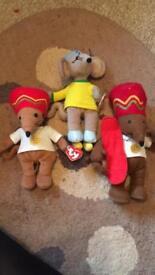 Bundle of talking Rastamouse & 2 brand new beanie toys - childrens