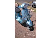 Vespa LX125 Scooter, low mileage, 8440 miles, FSH, rare model, MOT til Sept 19th 2018.
