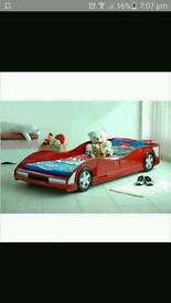 Child's red Car bed
