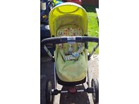 Mothercare My4 Pram/Pushchair with rain cover, parasol, cosytoes and instructions