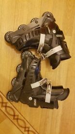 Classic Black ROCES inline Rollerblades Suitable for UK 5/6 (Boot Size 6/7)**GREAT CONDITION**