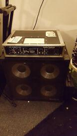 Hartke 3500 Bass Amp (Flightcased) with matching 4 x 10 Cab