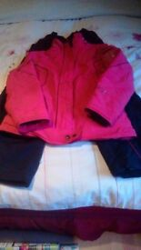 girls next ski jacket and trousers age 13/14