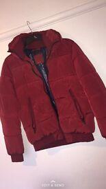 Red Zara men's coat