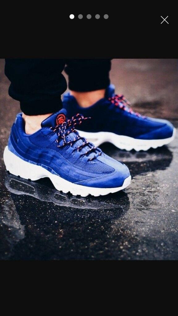 innovative design 3f485 bd840 nike air max 95 hyperuse stussy blue and white all sizes paypal delivery  BNIB x